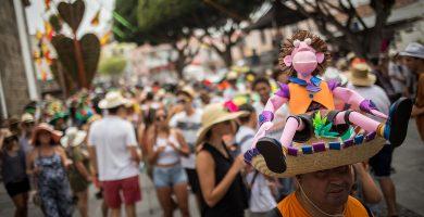 La verbena de La Pamela congrega cada año a cientos de personas en Tejina. Andrés Gutiérrez