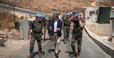 """Clavijo brinda en el Líbano por """"algo tan bonito como la paz"""""""