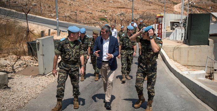 El Gobierno se gastó 7.725,19 euros en la foto de Clavijo con las tropas en El Líbano
