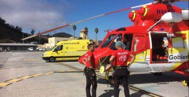 Herido con un traumatismo en la cabeza por un desprendimiento en Tenerife