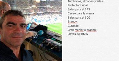 Tumbonas, balas, brandy… España flipa con la 'lista de la compra' de Manolo Sanchís