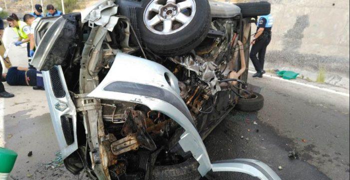 Herido tras volcar su vehículo en la autovía de San Andrés
