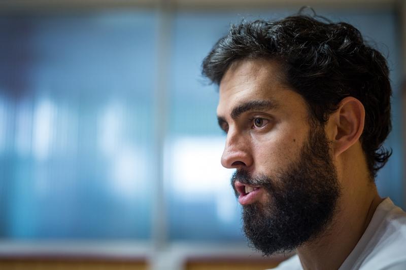 El aurinegro, durante una visita a DIARIO DE AVISOS| ANDRÉS GUTIÉRREZ