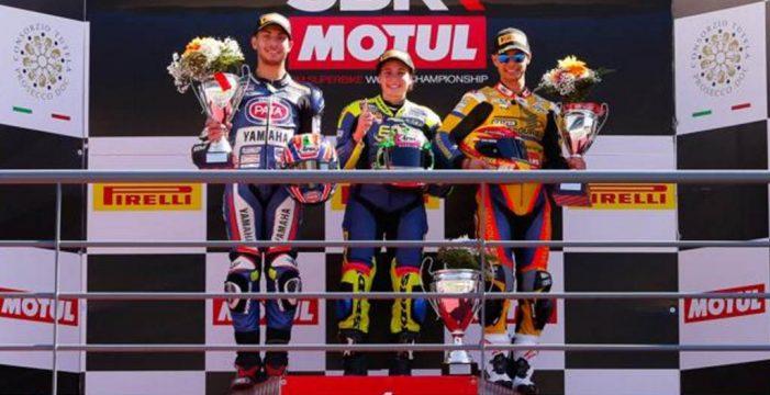 Ana Carrasco, primera mujer en ganar una carrera de motos de un campeonato mundial