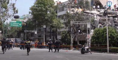 Edificio derrumbado en calle Álvaro Obregón | YOUTUBE (Heraldo)