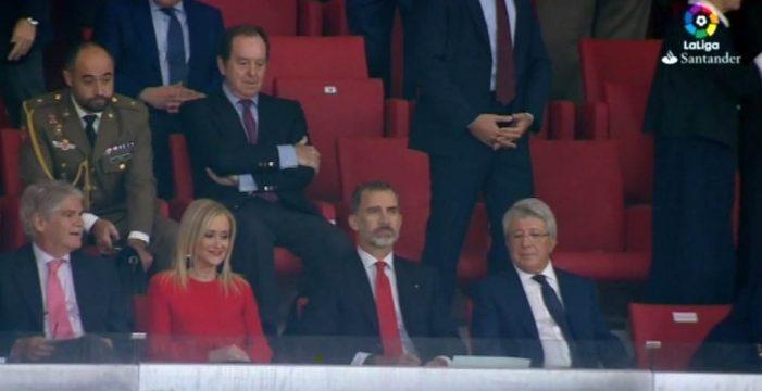 Felipe VI inaugura oficialmente el Wanda Metropolitano y preside el estreno del Atlético de Madrid