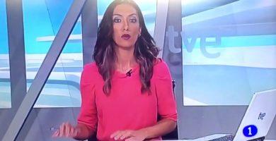 Pillada en directo una presentadora de TVE en Aragón