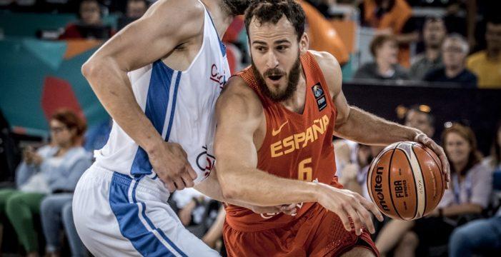 España arrolla a la República Checa (56-93) al ritmo de Ricky y Pau