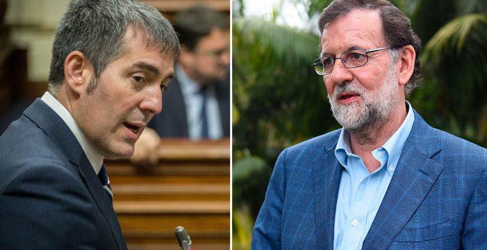 """Clavijo traslada a Rajoy su """"más profunda preocupación"""" por Cataluña"""
