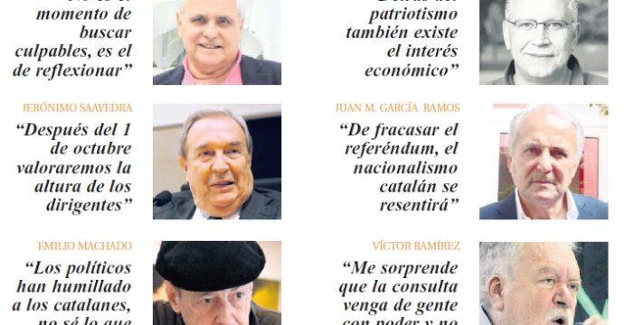Intelectuales isleños analizan el referéndum catalán