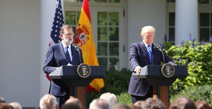 Trump y Rajoy celebran su primera reunión en Washington