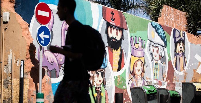 SOS para el colorido mural del artista Ro.Ro en la calle Mequinez