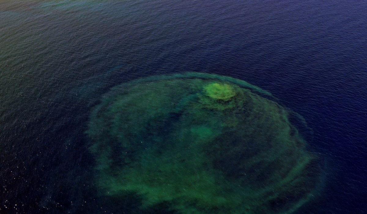 Vista Aérea de un vertido de aguas frente a la costa de Adeje. Fotos Aéreas de Canarias