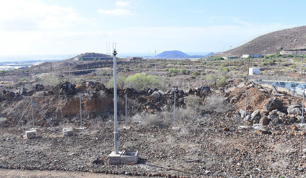 Solar donde antes de final de año se iniciarán las obras del nuevo I.E.S. de Guaza. Sergio Méndez