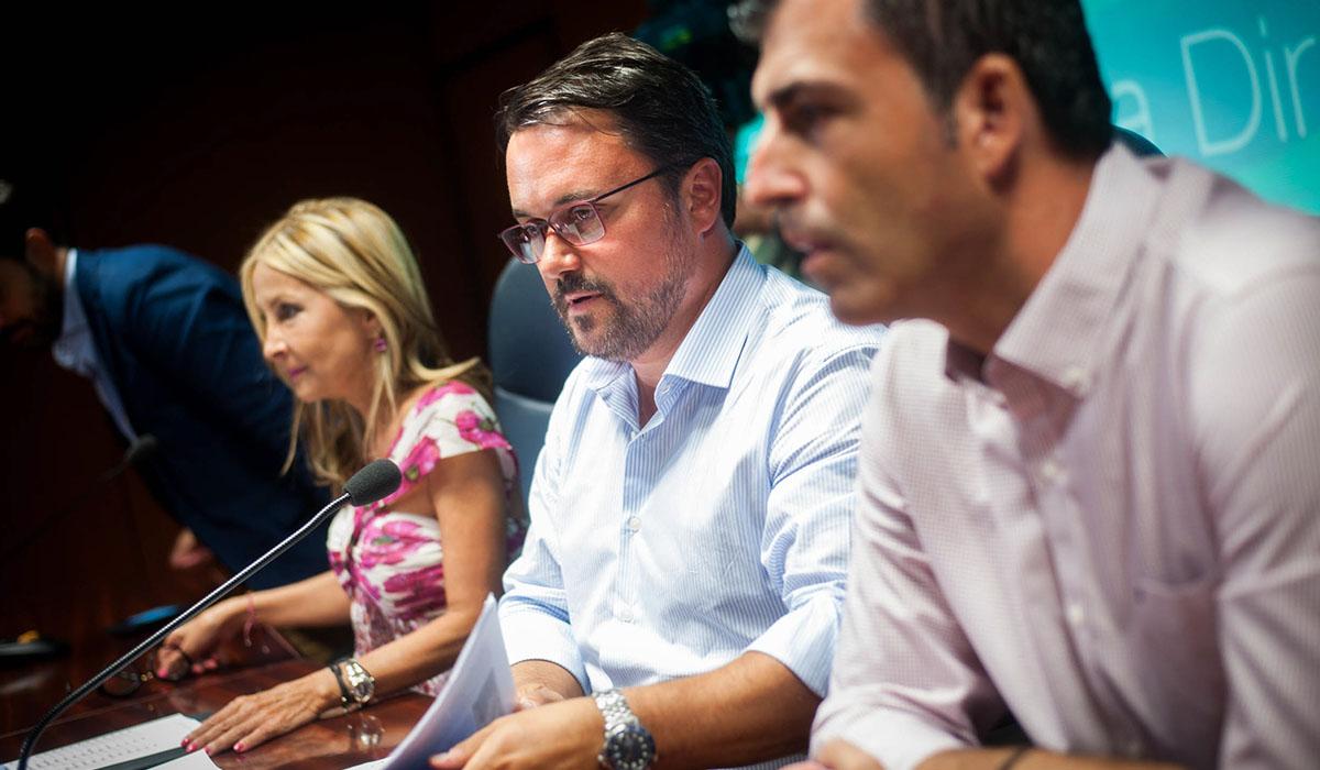 Reunión de la Junta Directiva Autonómica del PP, ayer en Santa Cruz de Tenerife. Fran Pallero