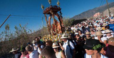 Imagen de la celebración de la Bajada el año pasado. Fran Pallero