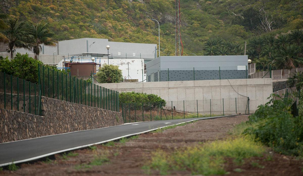Las obras de ampliación de la depuradora de Valle de Guerra han tenido un coste de 11,7 millones. Fran Pallero