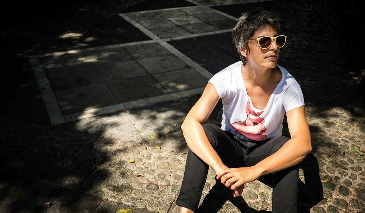 Nuria Delgada, artista. Andrés Gutiérrez