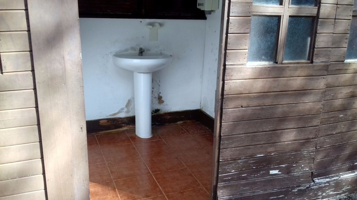 Los servicios presentan afecciones en los techos y el mobiliario. DA