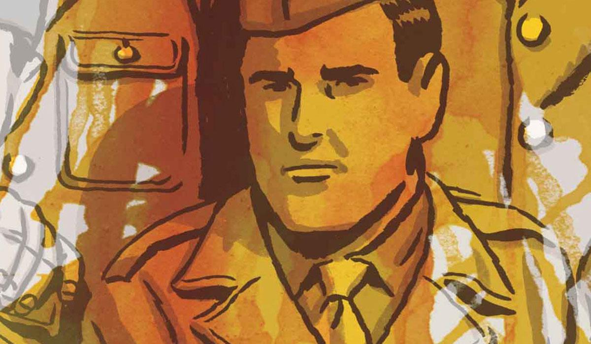 Ilustración de Miguel Campos Delgado incluida en el cómic sobre La Nueve Los surcos del azar. Paco Roca