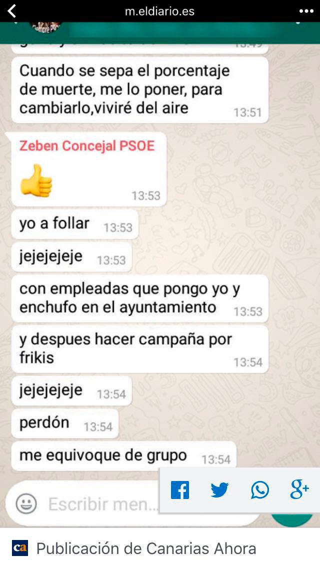 Los penosísimos mensajes de texto de Zebenzuí. Canarias Ahora / DA