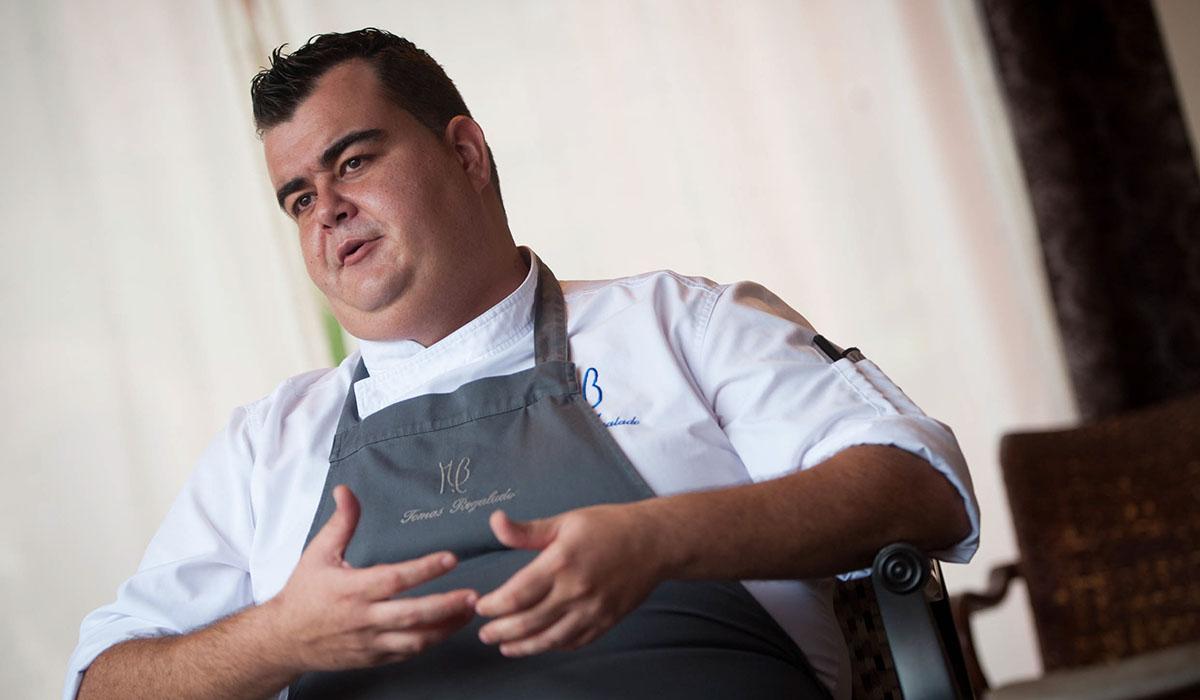 Tomás Regalado, segundo de cocina del M.B. Fran Pallero