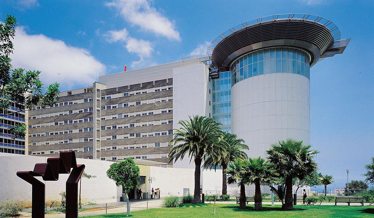 Fachada principal del Hospital Universitario de Canarias. DA