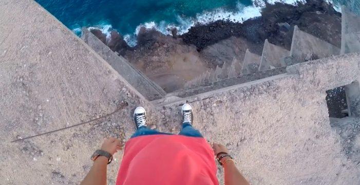 Vértigo, riesgo y adrenalina en el 'mamotreto' de Añaza