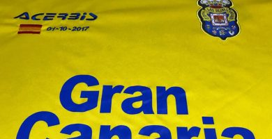 Camiseta de la UD Las Palmas para el partido en el Nou Camp