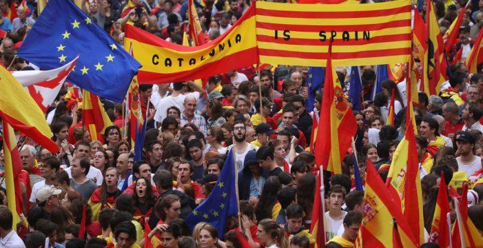 Concentraciones en Barcelona a favor de la unidad de España