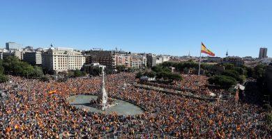 En vivo: manifestación en Colón por la unidad de España