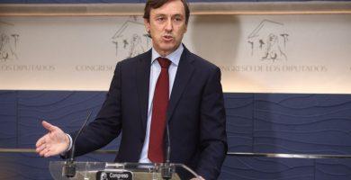 Rafael Hernando (PP) en rueda de prensa en el Congreso de los Diputados   EUROPA PRESS
