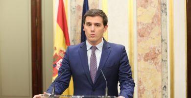 Albert Rivera, en rueda de prensa en el Congreso de los Diputados | EUROPA PRESS