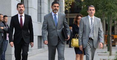 Trapero, de paisano, a su llegada a la Audiencia Nacional