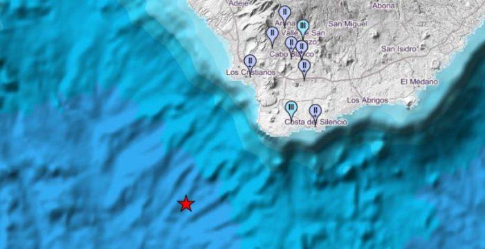 Un terremoto de magnitud 4 se deja sentir en varios municipios del sur de Tenerife