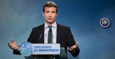 Casado (PP) advierte a Puigdemont de que puede acabar como Companys