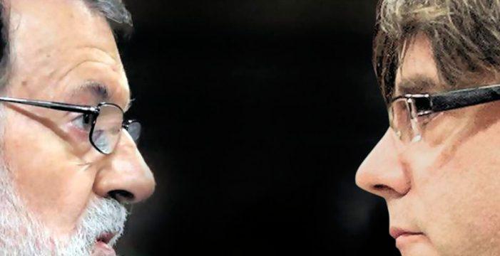 Rajoy no desvela sus planes mientras Puigdemont avanza hacia la independencia