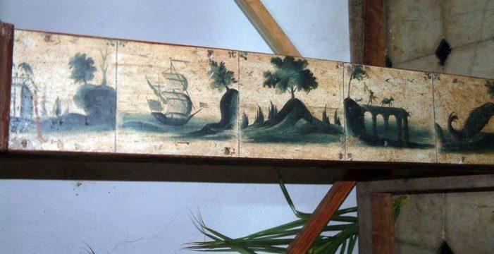 Hallan una especie de muestrario de azulejos de Delft en la iglesia de Tijarafe