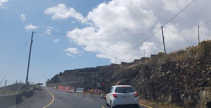 Cierre temporal en la carretera LP-206 entre La Polvacera y Puente Roto