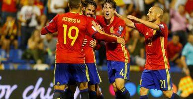 España logra el billete para el Mundial de Fútbol de Rusia 2018