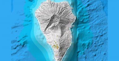 Una pequeña intrusión magmática a gran profundidad, posible causa del enjambre sísmico de La Palma