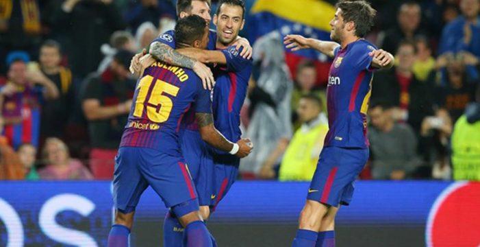 El Barça, más líder tras ganar a Olympiacos bajo la tormenta