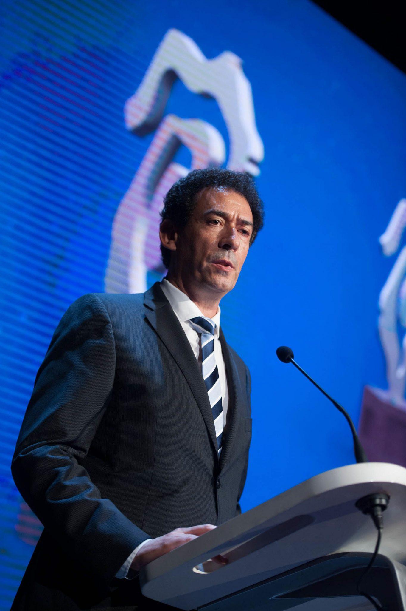 Lucas Fernández, editor de DIARIO DE AVISOS, durante su intervención en la entrega de los Premios Taburiente. Fran Pallero