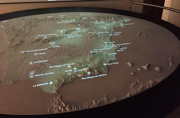 Mapa del Museo Arqueológico Nacional, donde se ubica a Canarias en el Mediterráneo. / DA