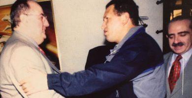 En el año 2000, con Hugo Rafael Chávez Frías, presidente de Venezuela. DA