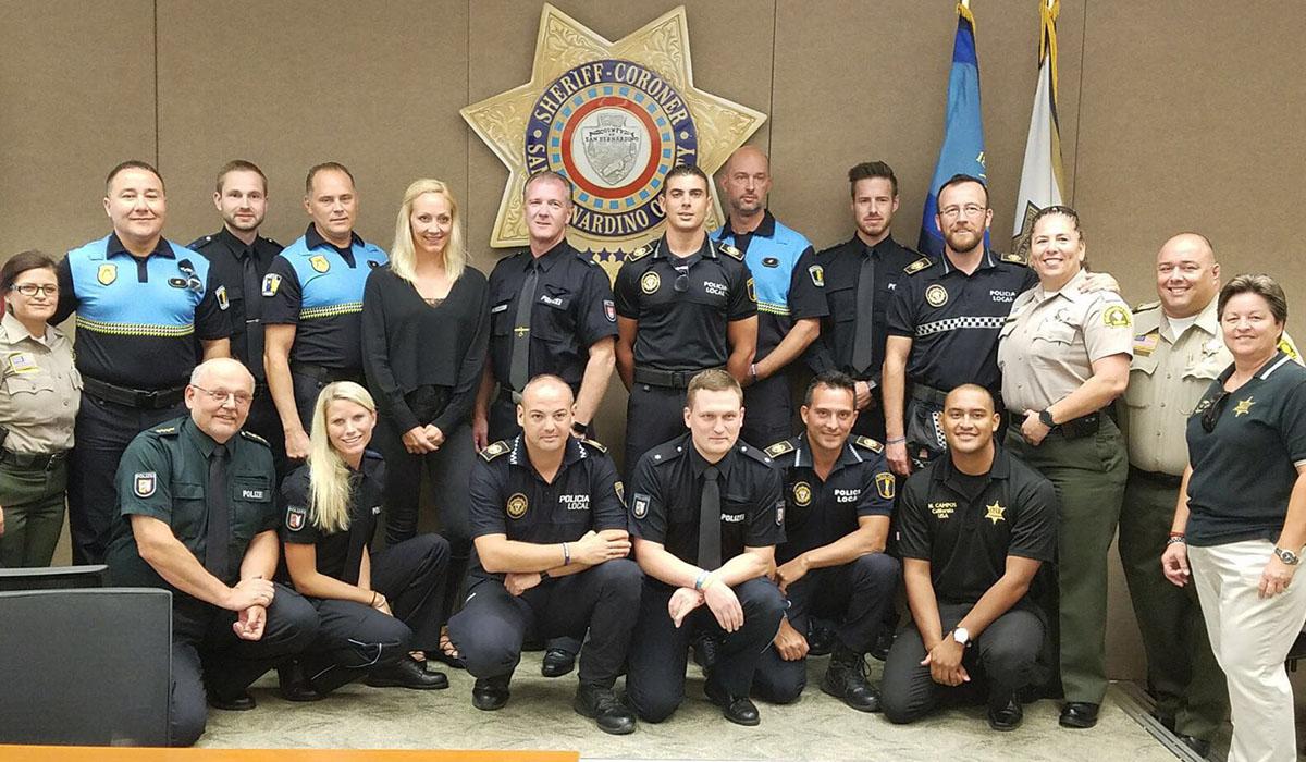 Los agentes de La Laguna, Alicante y Alemania, junto con los estadounidenses en San Bernardino. DA