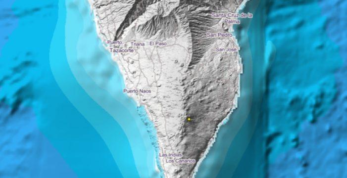 Registran un nuevo terremoto bajo el volcán Cumbre Vieja