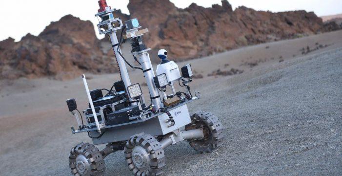 Prueban un robot lunar en el Teide