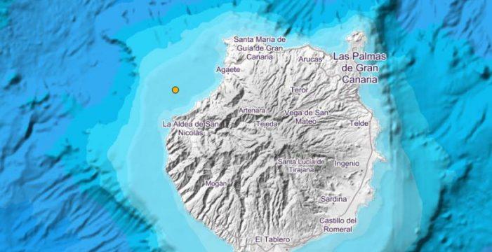 Terremoto de 2,8 grados al noroeste de Gran Canaria sentido por la población