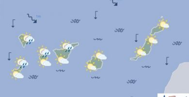 Lluvias débiles en Tenerife